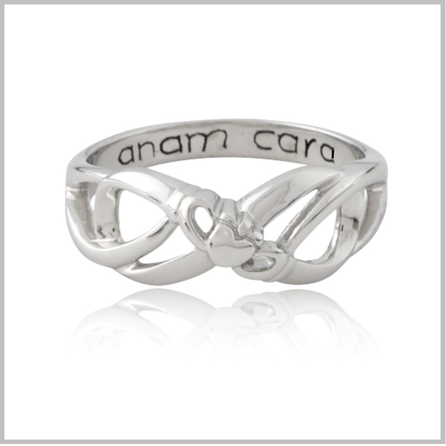 Claddagh Infinity Ring Infinity Ring Sterling Silver