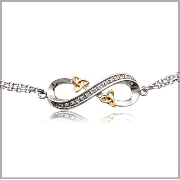 Infinity love knot silver celtic infinity love knot bracelet aloadofball Image collections