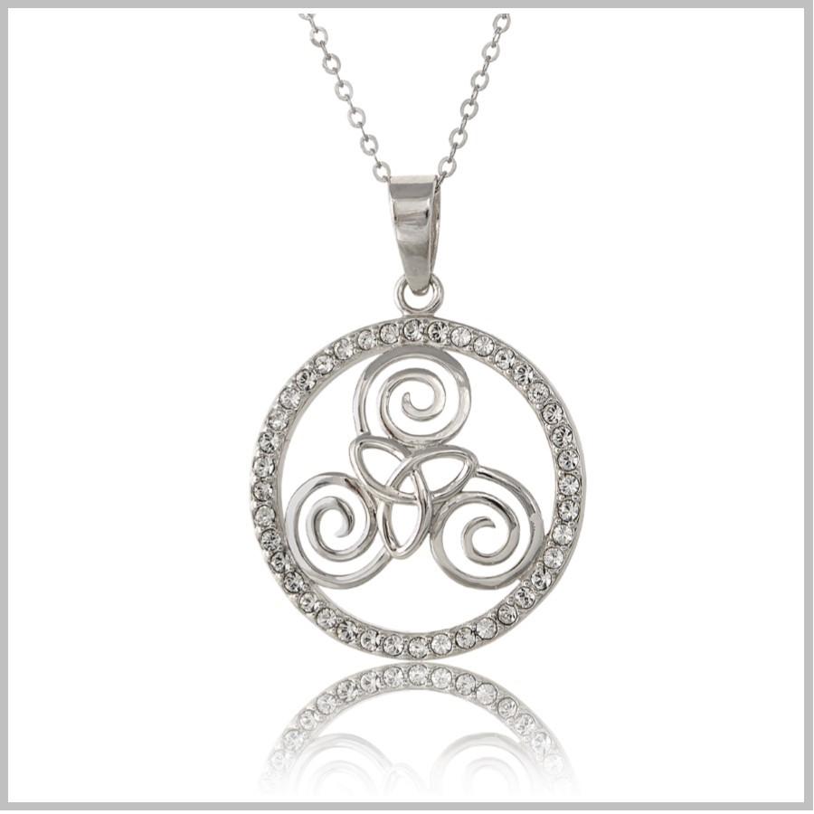 Celtic Triskele Necklaces Sterling Silver Triskele Trinity Necklace