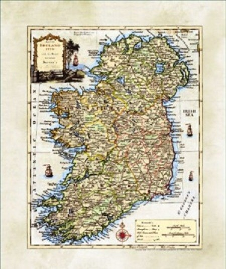 Map Of Ireland Lakes.Map Of Ireland Rivers And Lakes