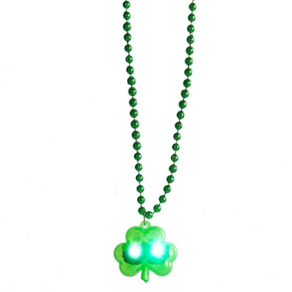 LED Shamrock Necklace Shamrock Necklace Saint Patrick