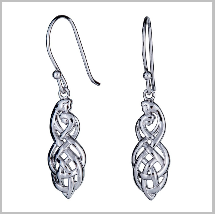 celtic knotwork earrings celtic couples knot earrings celtic couples jewelry 803