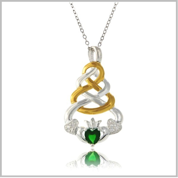 Celtic Knot Claddagh Jewelry Claddagh Knot Necklace
