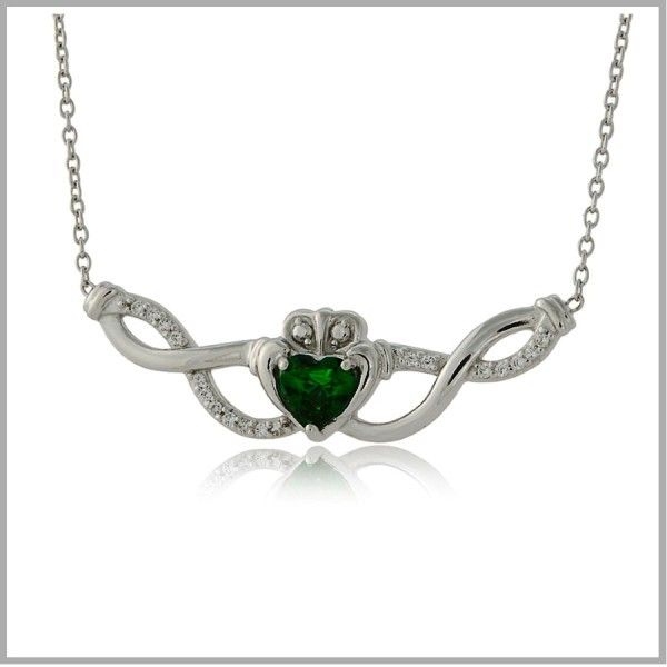Claddagh Necklace Woven Claddagh Necklace Sterling