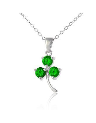 emerald shamrock pemdant