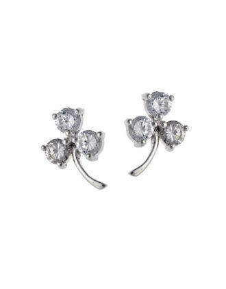 CZ Shamrock Earrings