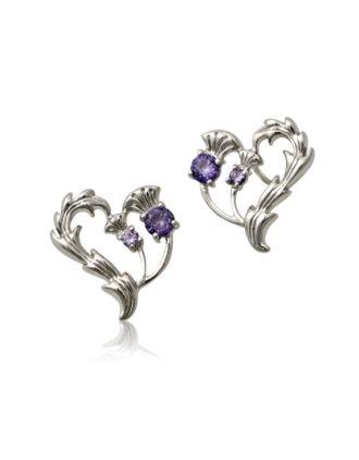 Thistle Heart Earrings