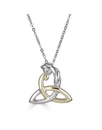 Two Tone Celtic Mothers Knot Necklace