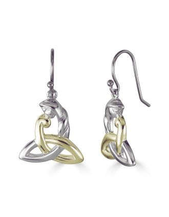 Two Tone Celtic Mothers Knot Earrings