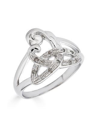 Diamond Celtic Mothers Knot Ring