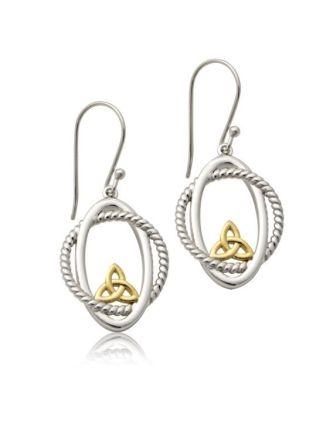 Oval Aran Trinity Earrings