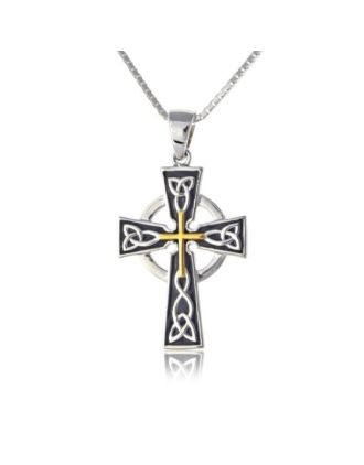 black and gold celtic cross