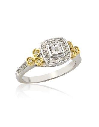 Shamrock Vintage Diamond Ring