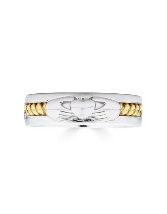 Aran Claddagh Rope Band Gold Plated