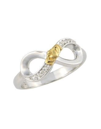 Diamond Claddagh Infinity Ring