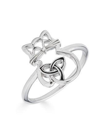 Celtic Cat Ring