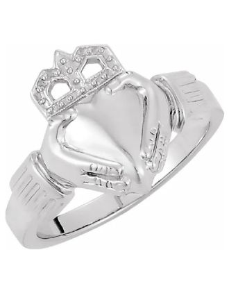 Mens Sterling Silver Claddagh Ring | Mens Claddagh Ring
