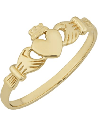 10K Youth Yellow Gold Claddagh Ring