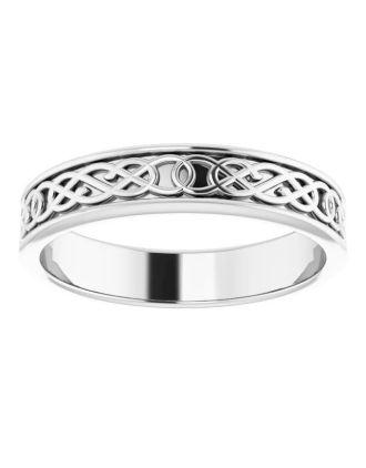 Celtic Knotwork Platinum Wedding Ring | Platinum Wedding Ring