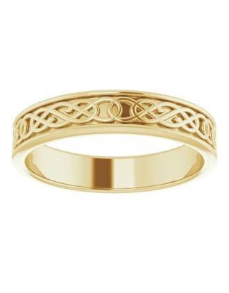 Celtic Knotwork Gold Wedding Ring