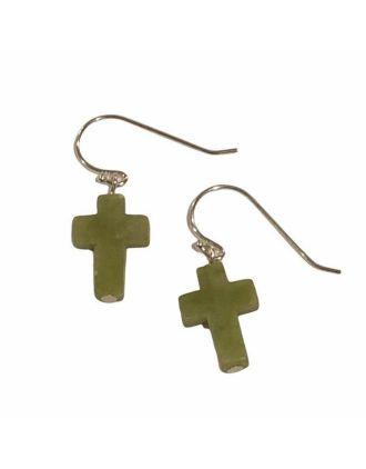 Connemara Marble Cross Earrings