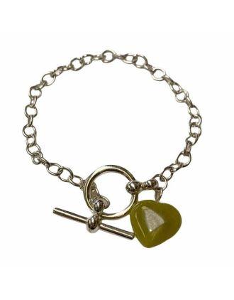 Connemara Marble Heart Toggle Bracelet