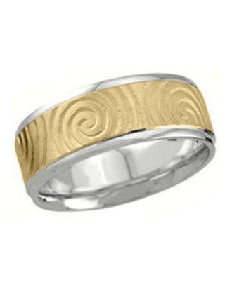 Newgrange Swirl Ring Sterling Silver 10k gold