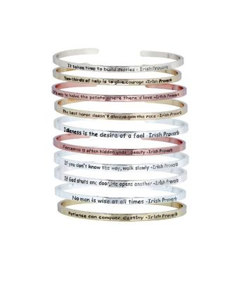 Irish Proverb Affirmation Bracelets