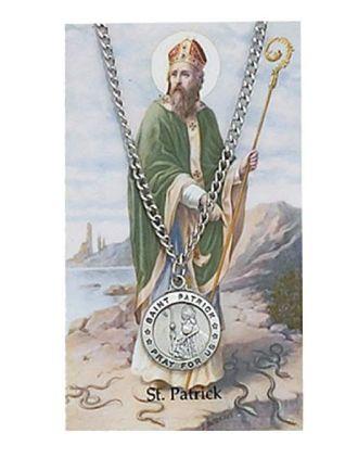 Saint Patrick Pewter Medal Prayer Card