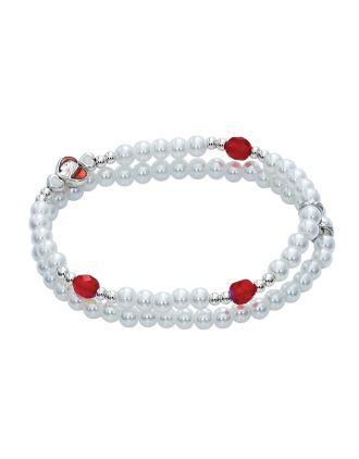 Confirmation Pearl & Red Bracelet