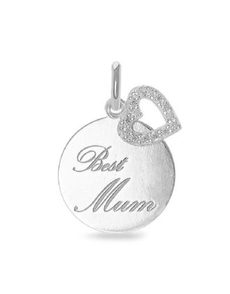 Best Mum Mothers Pendant with Heart