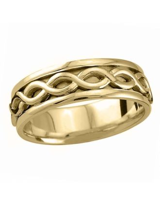 Oxidized Celtic Knot Ring Silver 10K Gold | Oxidized Celtic Knot Wedding Ring