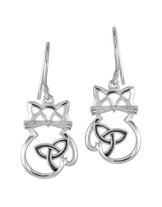 Celtic Cat Earrings