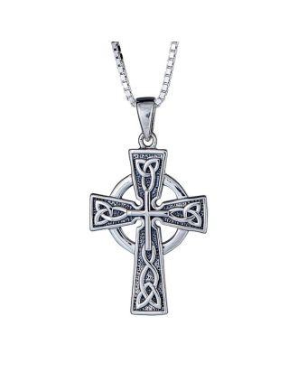 Bold celtic cross necklace