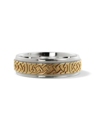 Celtic Eternity Knot Wedding Ring Siver & Gold
