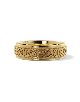 Celtic Eternity Knot Wedding Ring 10K Gold