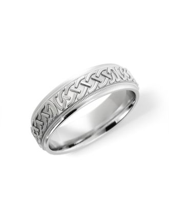 Celtic Eternity Knot Wedding Ring Sterling Silver
