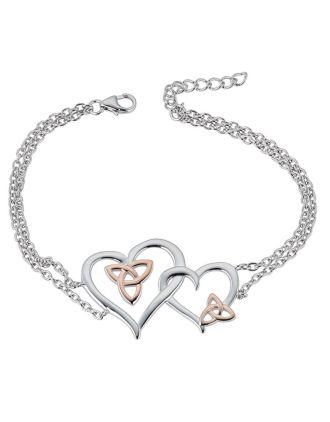 Double Celtic Hearts Bracelet