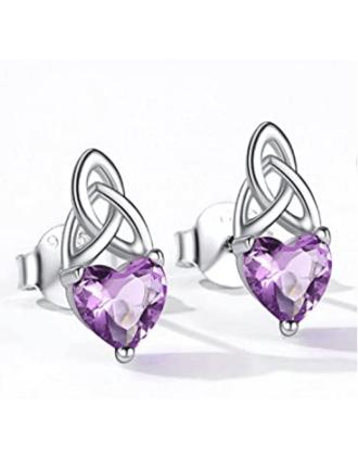 Celtic Knot Alexandrite Earrings