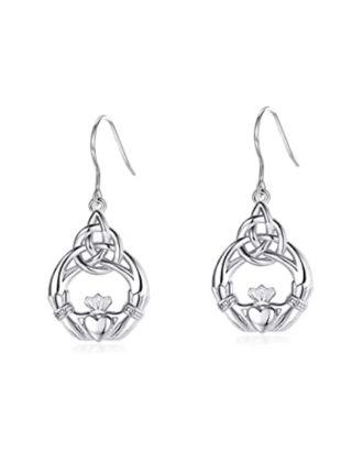 Celtic Knot Claddagh Earrings