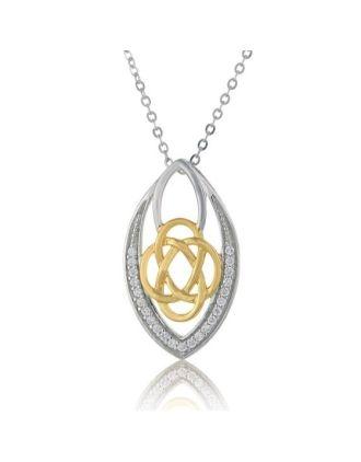 Celtic Knot Marquis Necklace