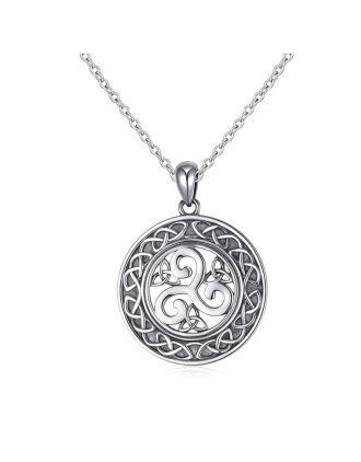 Triskele Celtic Knot Medallion Pendant