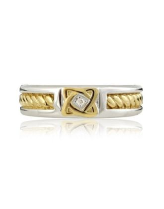 Diamond Celtic Knot Band Gold Plated