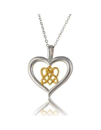 Celtic Lovers Knot Heart