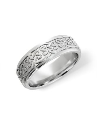 Celtic Lovers Knot Ring Sterling Silver