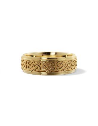 Celtic Lovers Knot Ring 10K Gold