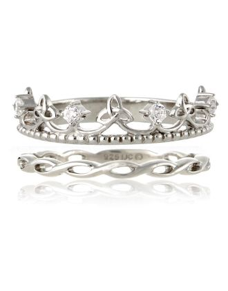 Celtic Tiara Stackable Ring