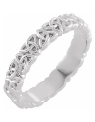 Ladies Celtic Trinity Knot Wedding Ring