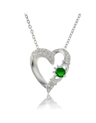 Silver Claddagh Heart