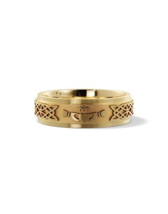 Claddagh Wedding Ring 14k yellow gold